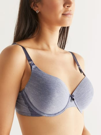 Demi-Cup Nursing Bra with Lace