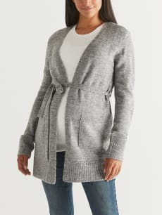 Belted Maternity Cardigan