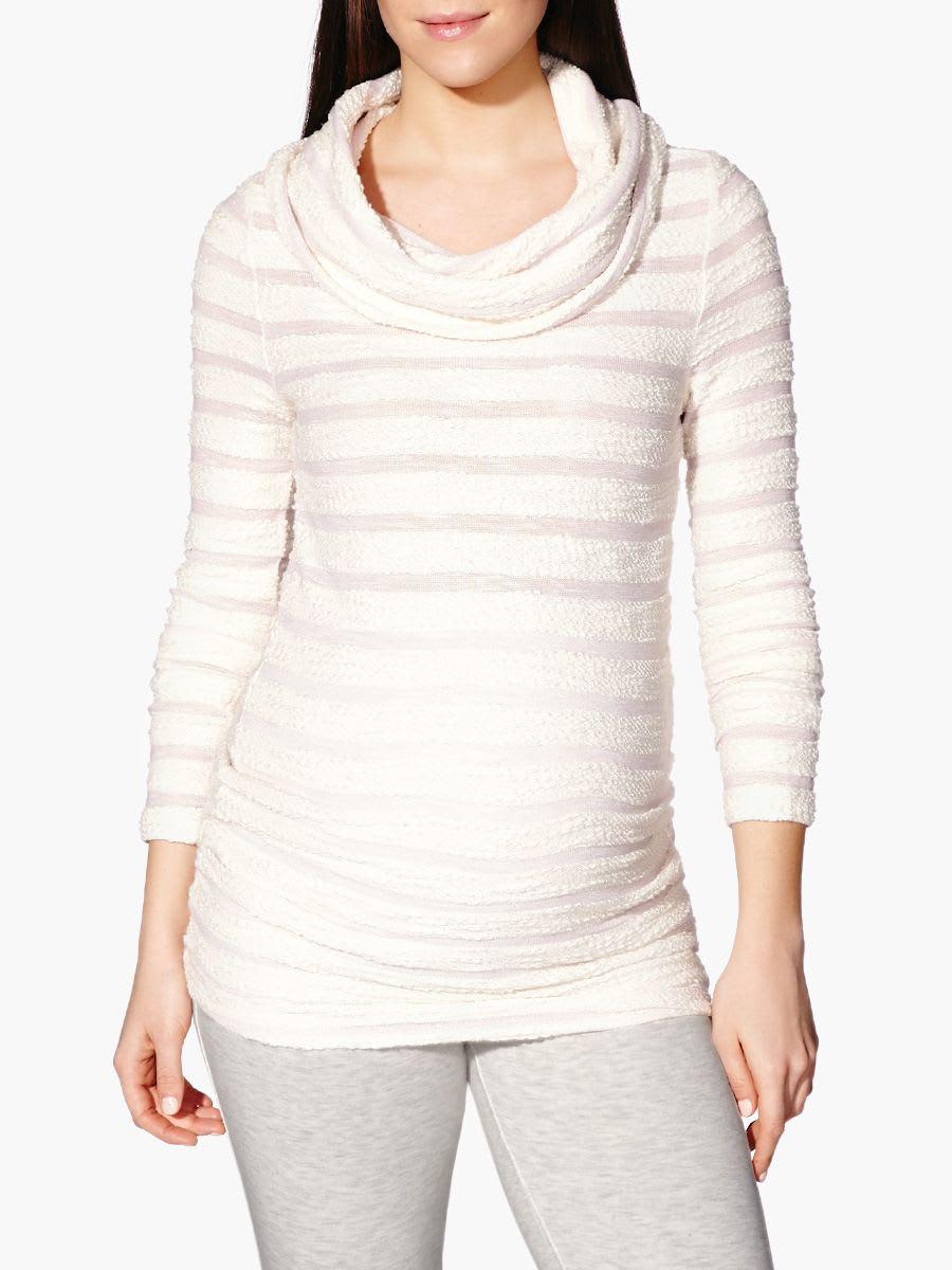 ab1aa082f915 Essence - Long Sleeve Cowl Neck Maternity Sweater
