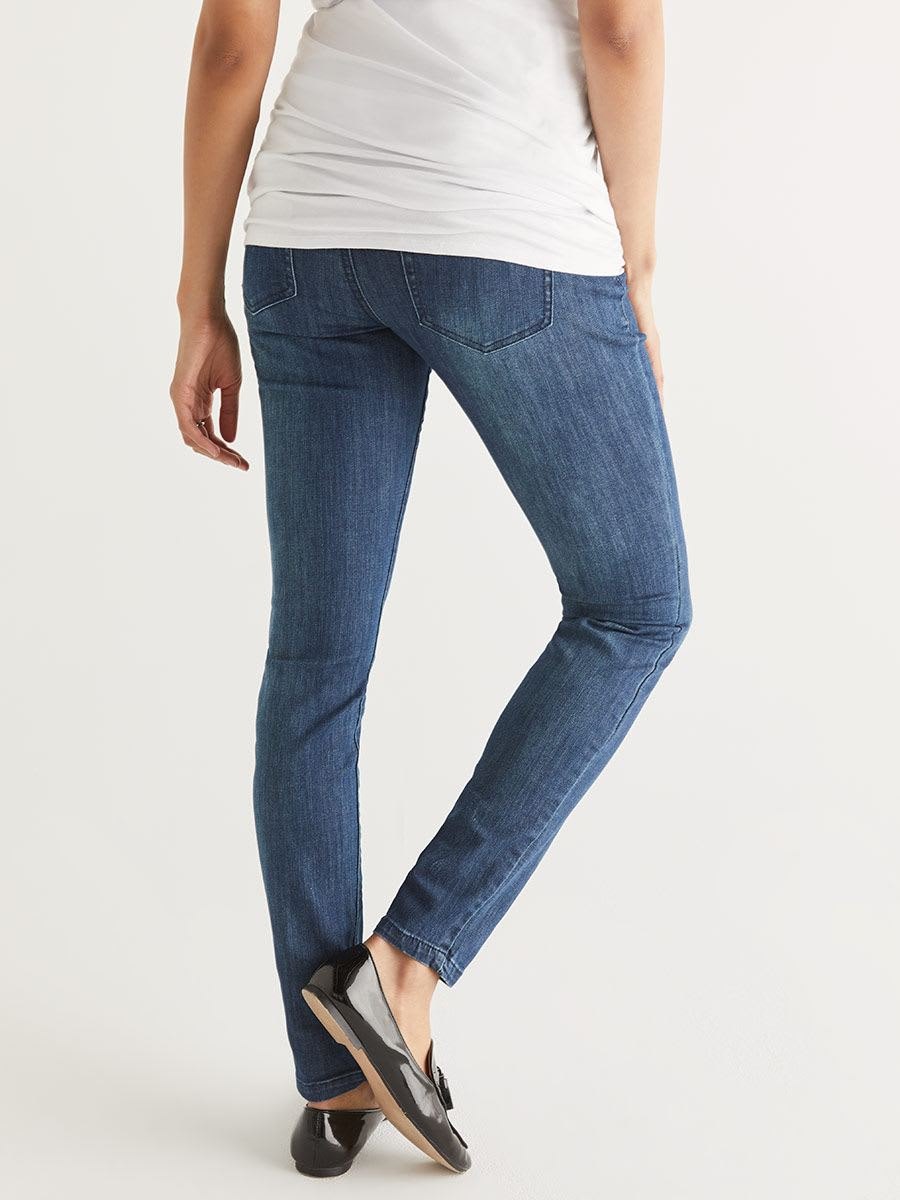 Medium Blue Skinny Maternity Jean