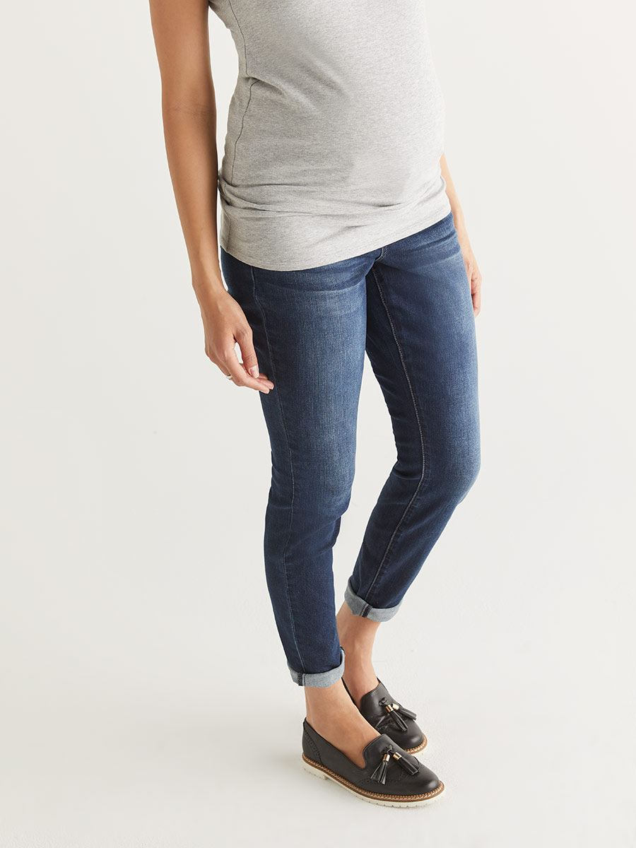 Dark Blue Now & After Skinny Maternity Jean