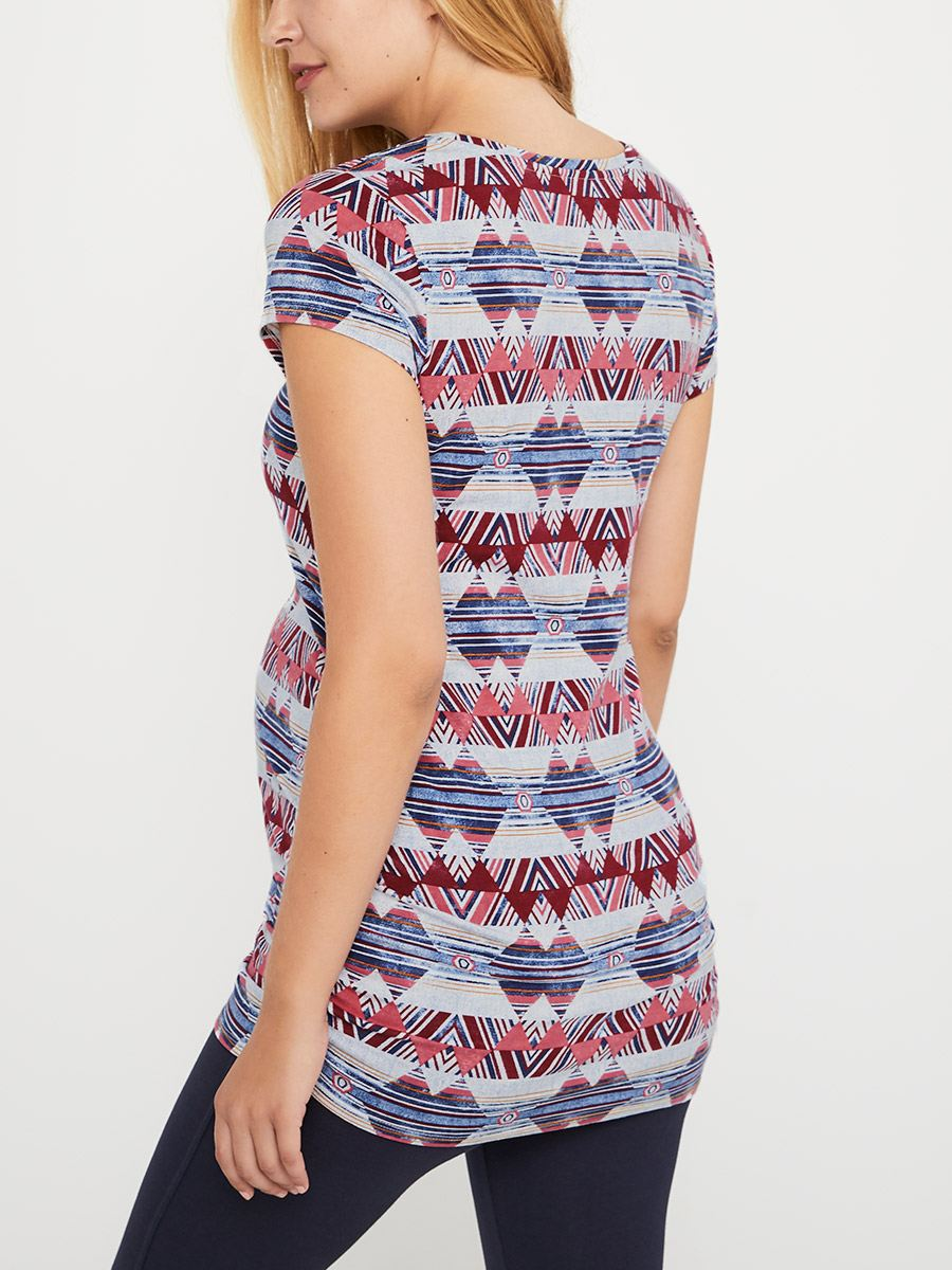 Printed Cotton Maternity T-Shirt