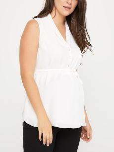 Stork & Babe - Maternity Blouse with Pleats