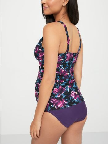 Printed Maternity Tankini Swim Top