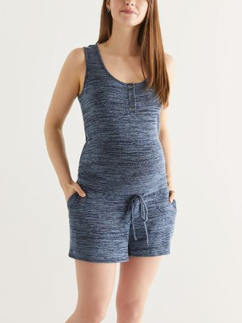 Sleeveless Maternity Romper