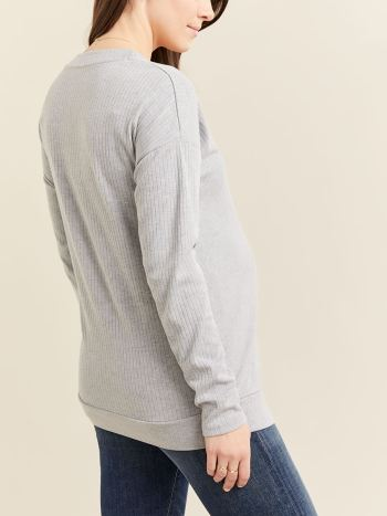 Long Sleeve Crossover Nursing & Maternity Top
