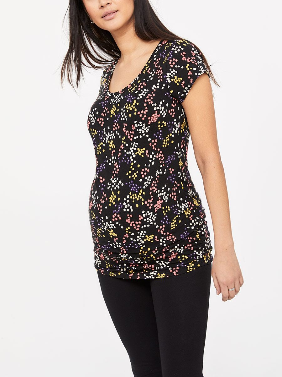 Printed Short Sleeve Maternity T-Shirt