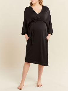 Black Maternity Delivery Robe