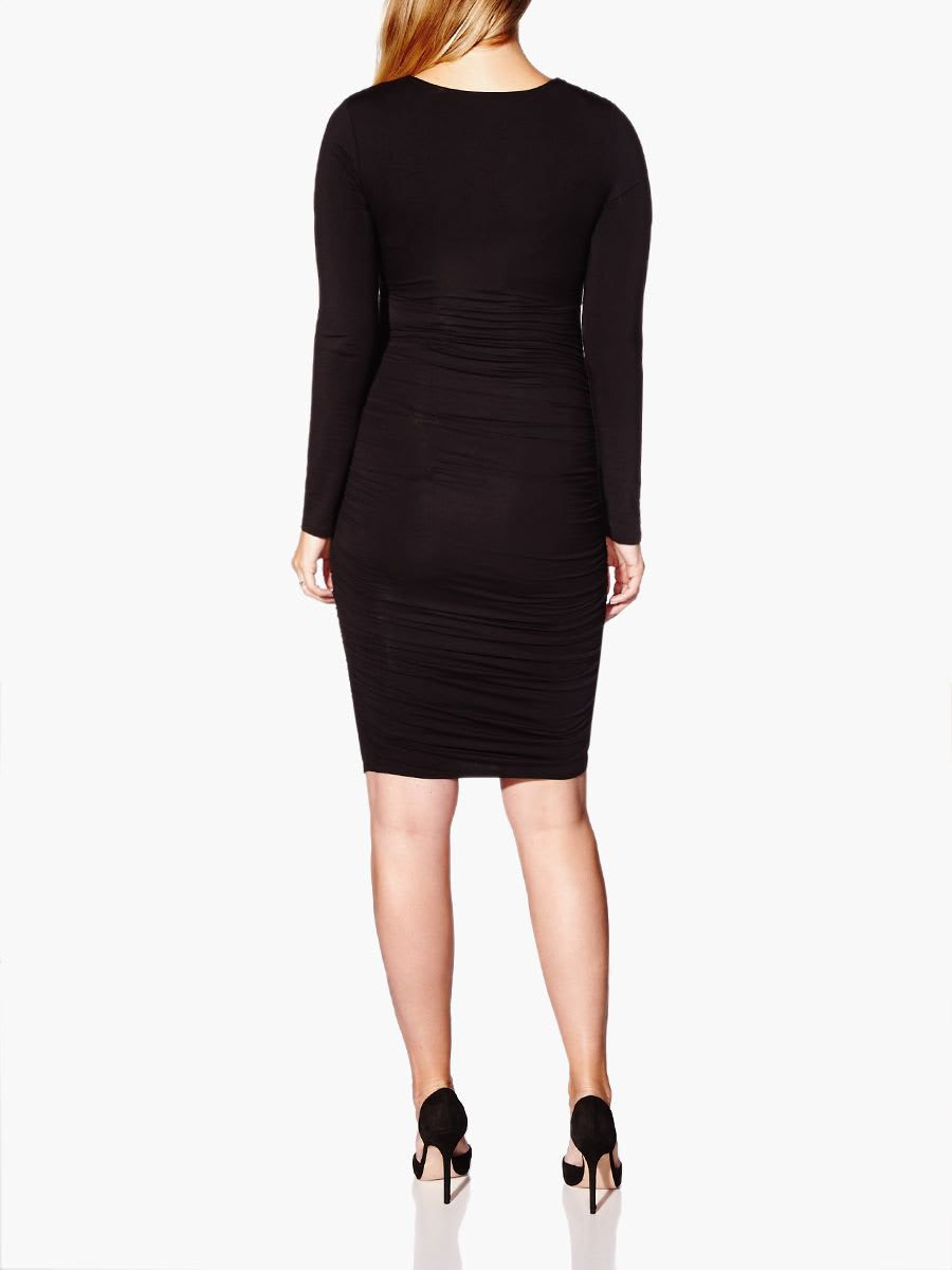 Stork & Babe - Long Sleeve V-Neck Maternity Dress