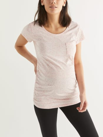 21d89cf98881ce Ruched Maternity T-Shirt with Chest Pocket