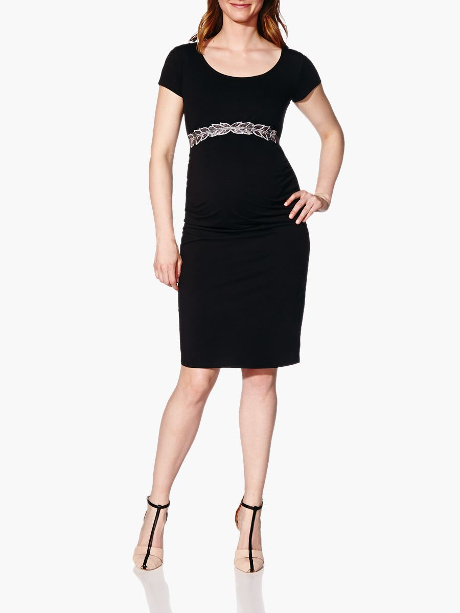 Related to Grey Short Sleeve Fitted Terry Maternity Dress