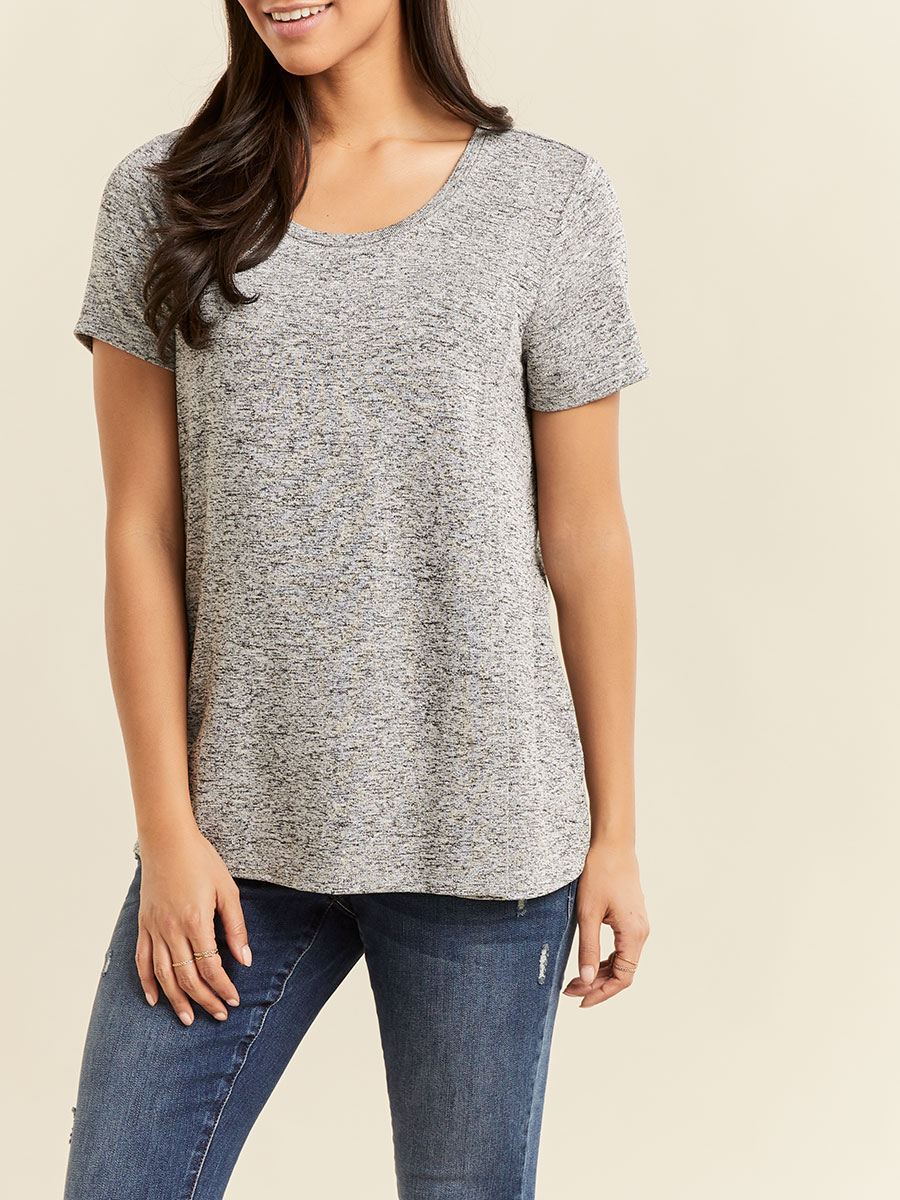 Short Sleeve Crossover Nursing & Maternity T-Shirt