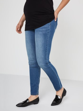 Now & After Blue Skinny Maternity Jean