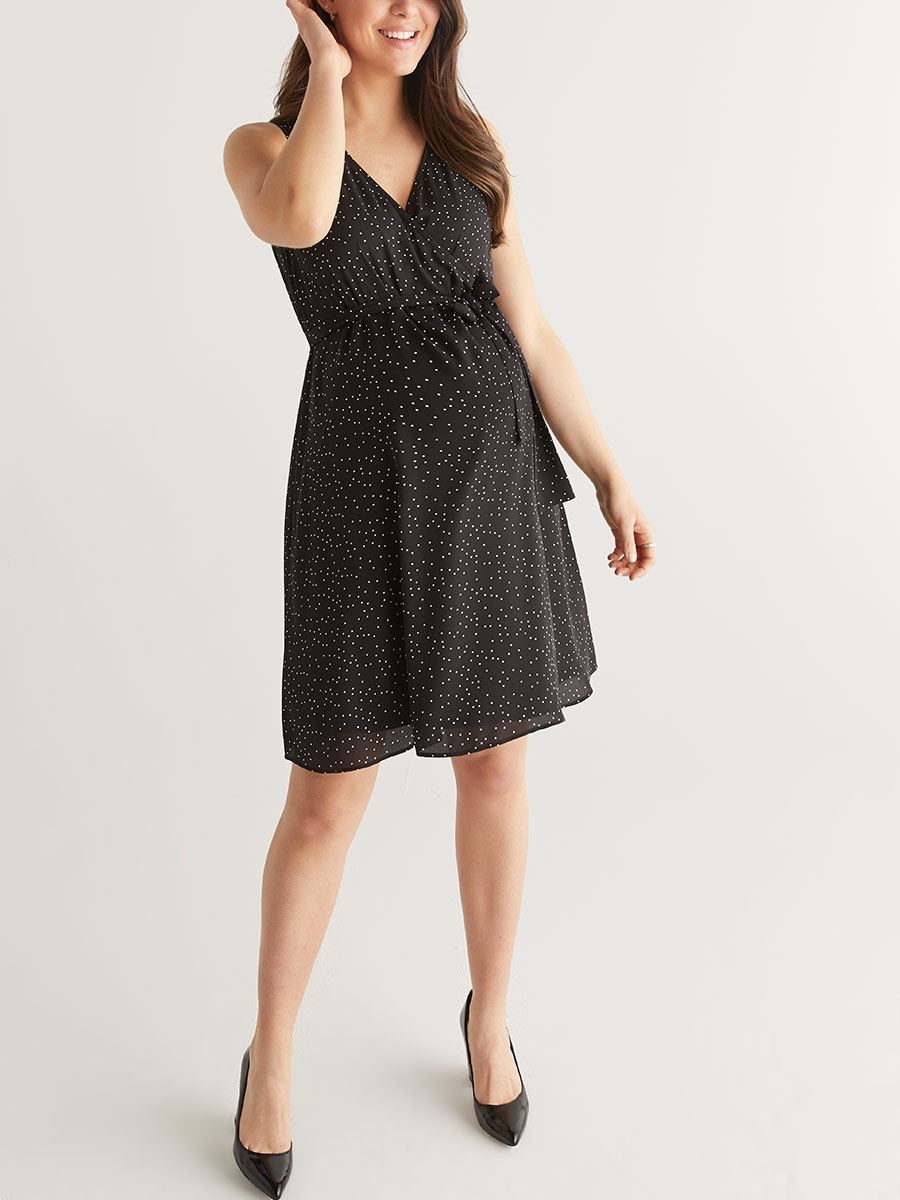 Stork & Babe - Short Maternity Wrap Dress