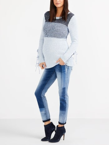 Shadow Patch Skinny Maternity Jean