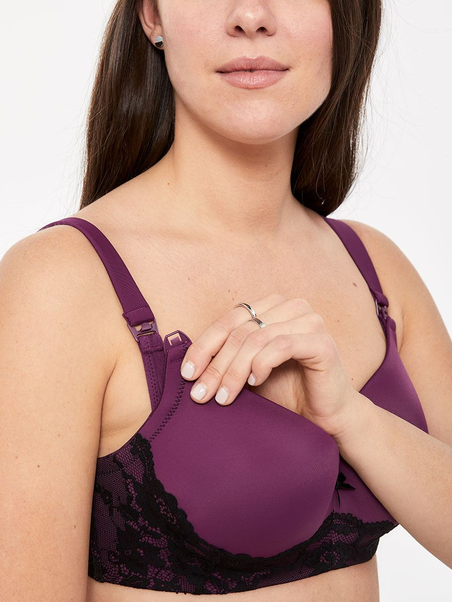 Contour Balconnet Underwire Nursing Bra with Lace