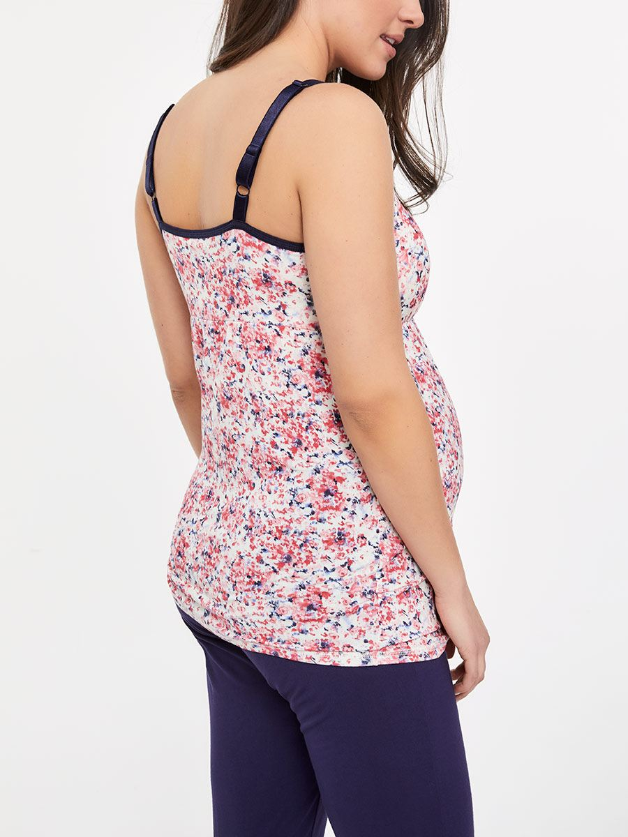 Printed Sleeveless Nursing Pyjama Cami