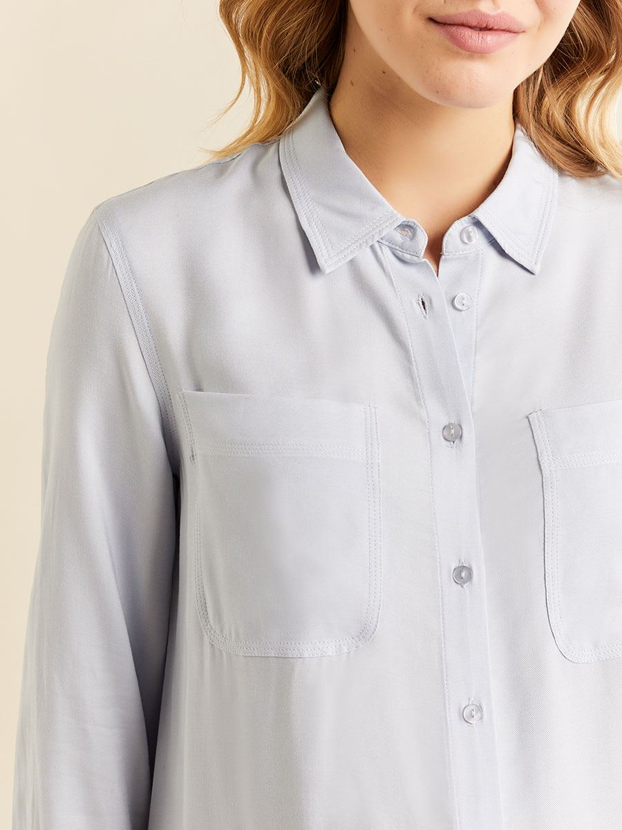 Stork & Babe - Long Sleeve Button-Down Maternity Blouse