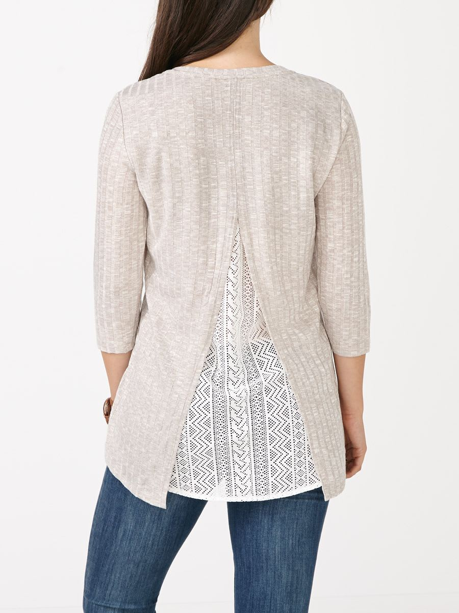 27681aa19d145 3/4 Sleeve Maternity Top with Lace Back | Thyme Maternity