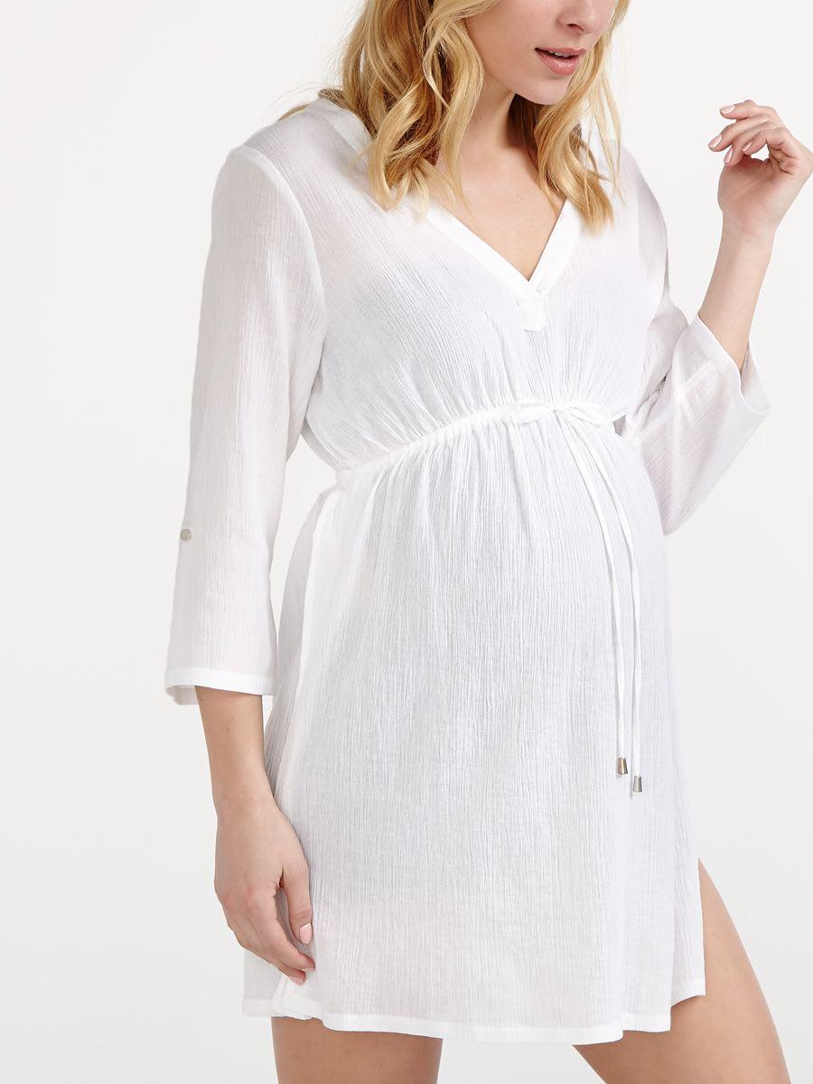 3736f0976b 3/4 Sleeve Maternity Swim Cover Up | Thyme Maternity