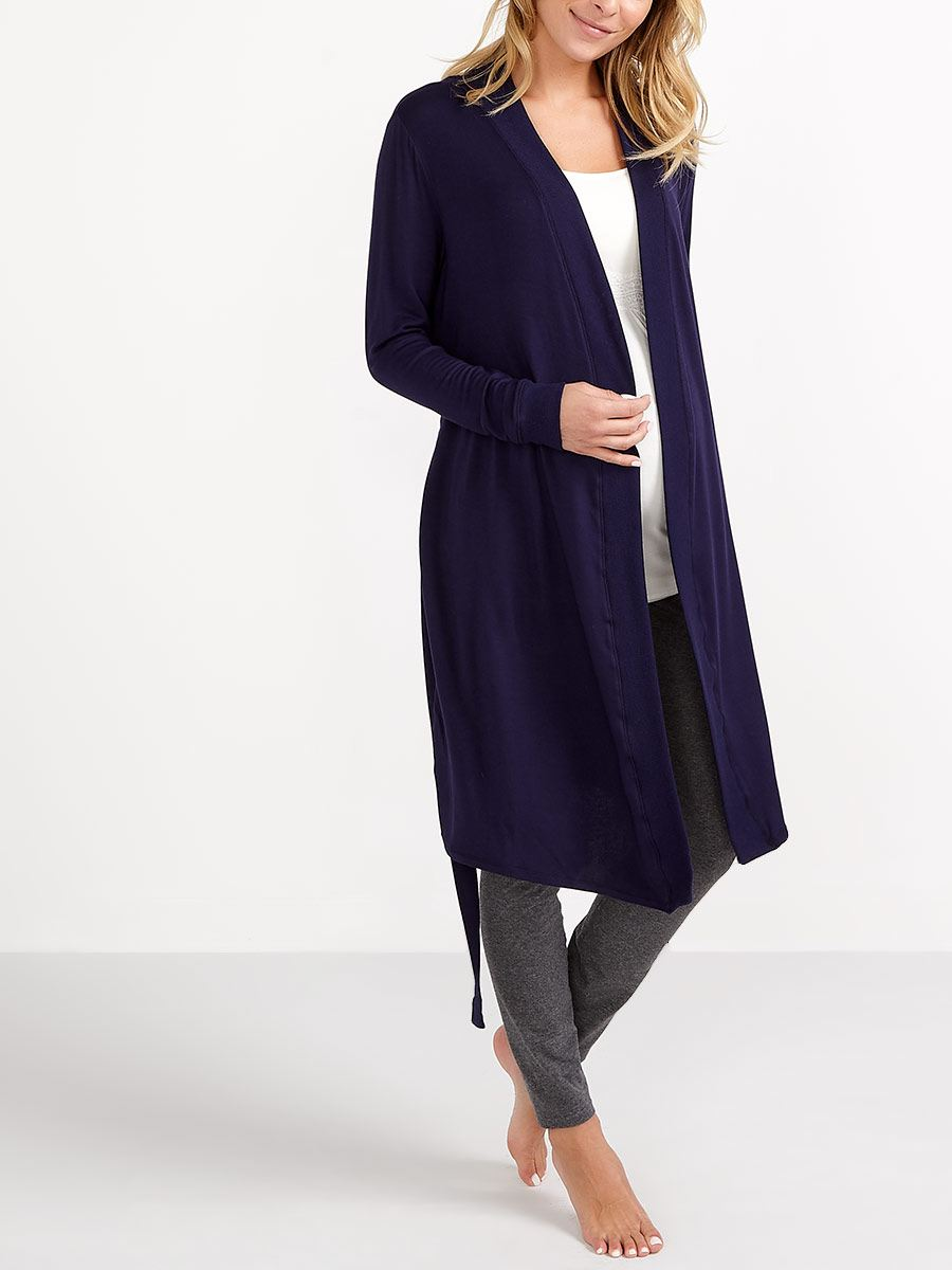 Essentials - Long Sleeve Maternity Robe