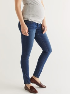 Dark Blue Super Skinny Maternity Jean - Petite