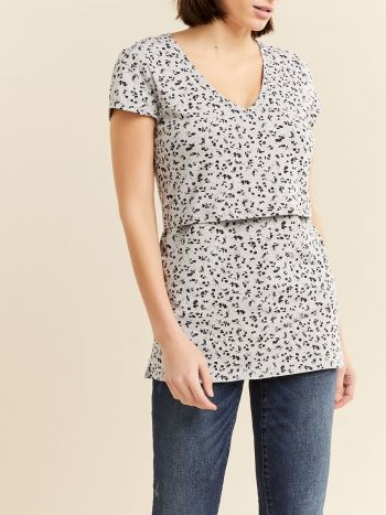 Short Sleeve Nursing & Maternity Top