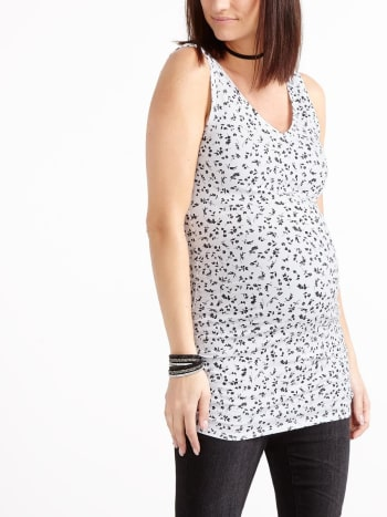 Printed Two-Way Maternity Tank Top