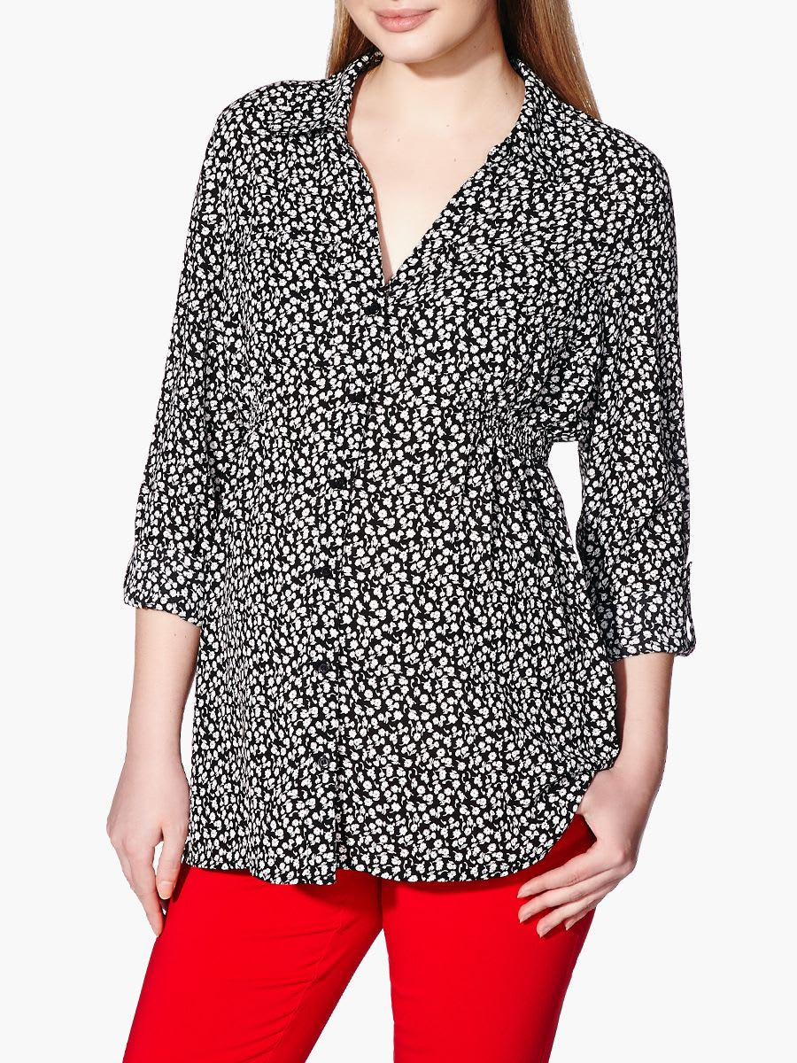 fde401e638db4 Stork & Babe - Long Sleeve Printed Maternity Blouse | Thyme Maternity