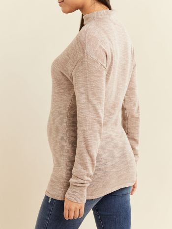 Dolman Sleeve Funnel-Neck Maternity Sweater