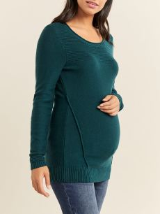 Long Sleeve Ottoman Maternity Sweater