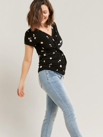 Light Blue Maternity Jegging