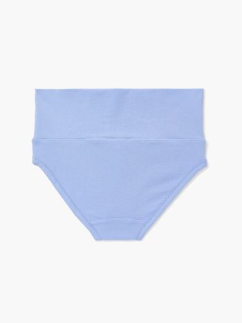 Solid Foldover Maternity Brief Panty