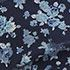 Blue Ground White Floral