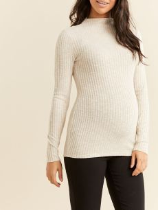 Stork & Babe - Long Sleeve Ribbed Maternity Top