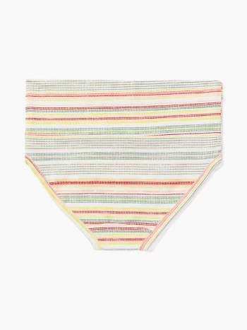 Foldover Maternity Brief Panty with Stripes
