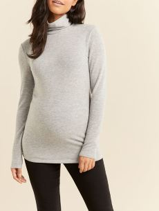 Long Sleeve Soft Touch Turtleneck Maternity Top