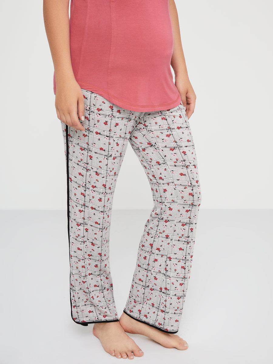 4a97b82868d Printed Maternity Ankle Pyjama Pants