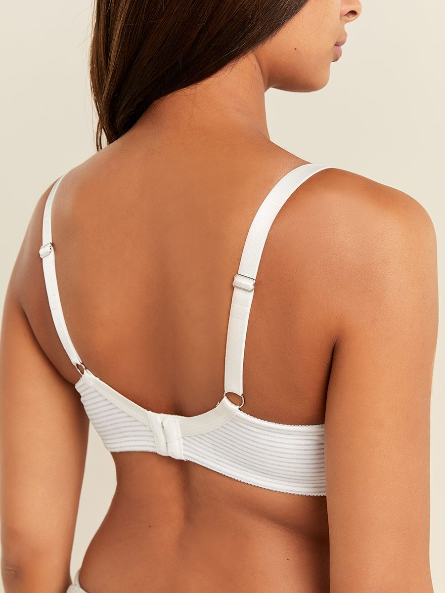 Striped Demi-Cup Nursing Bra