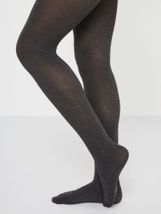 Opaque Grey Maternity Tights