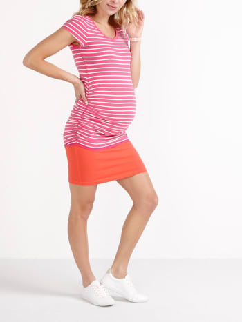 Striped Scoop Neck Maternity T-Shirt