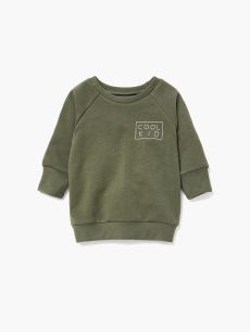 Baby Thyme - Printed Long Sleeve Grow With Me Sweatshirt
