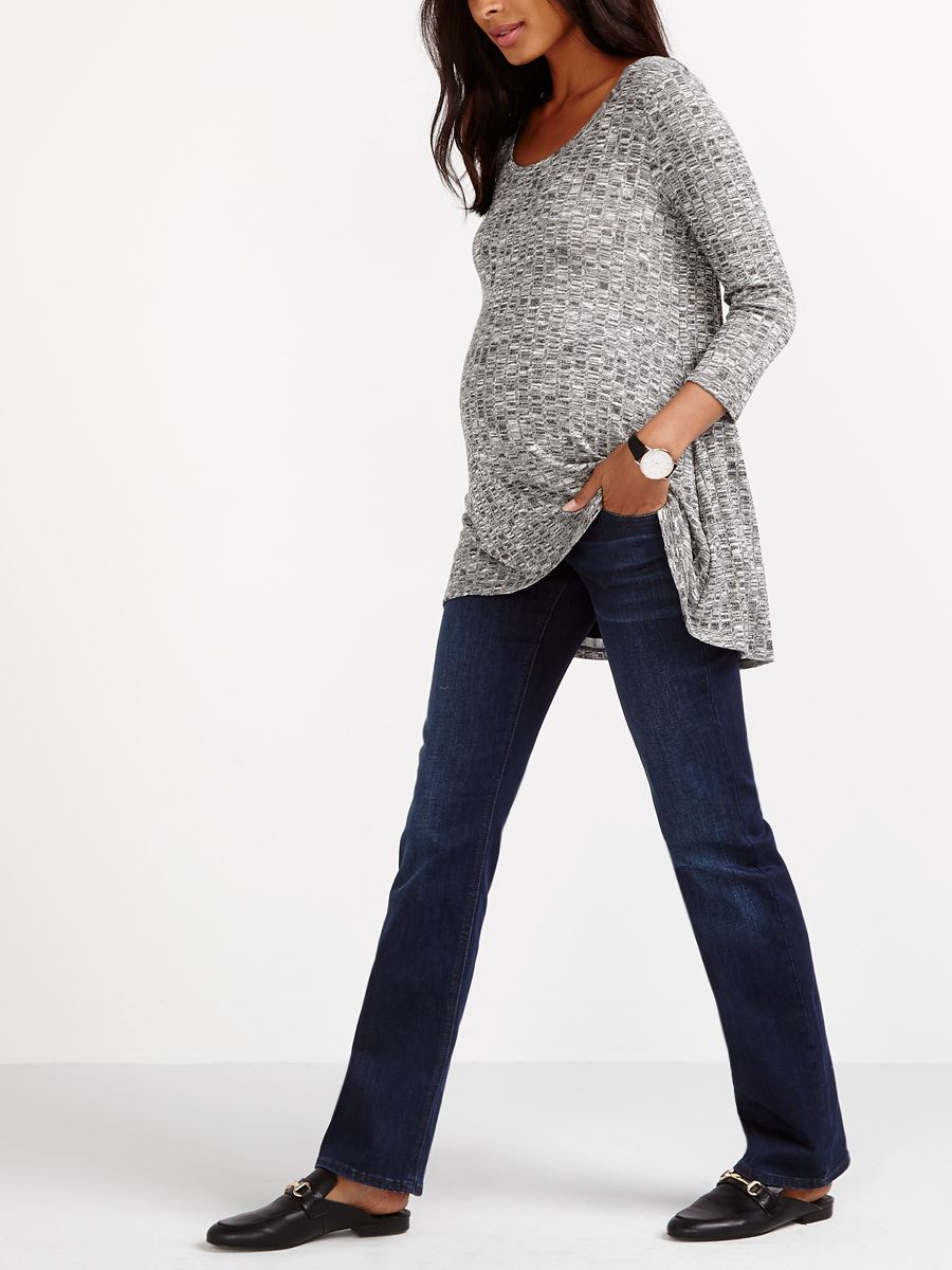 Tall - Dark Wash Bootcut Maternity Jean