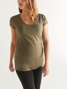 Solid V-Neck Nursing Top
