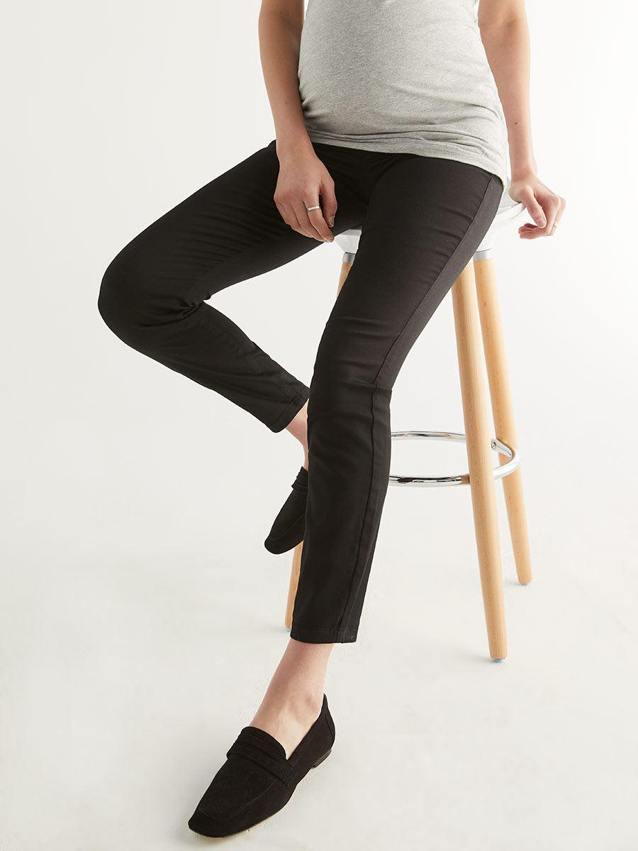 6fa94f6251708 Super Skinny Sateen Plus Size Maternity Pant