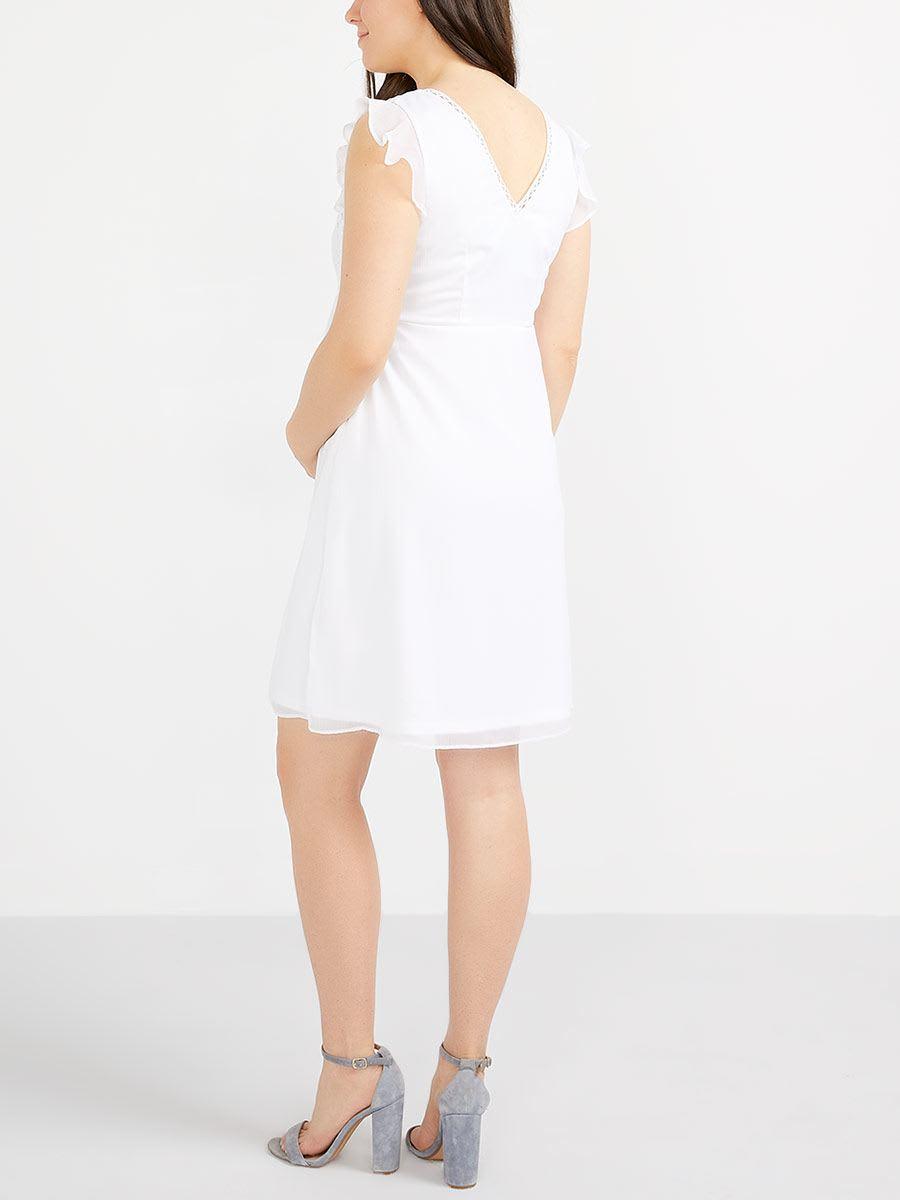 4e0657d90a1 Stork   Babe - Sleeveless Maternity Dress with Crochet