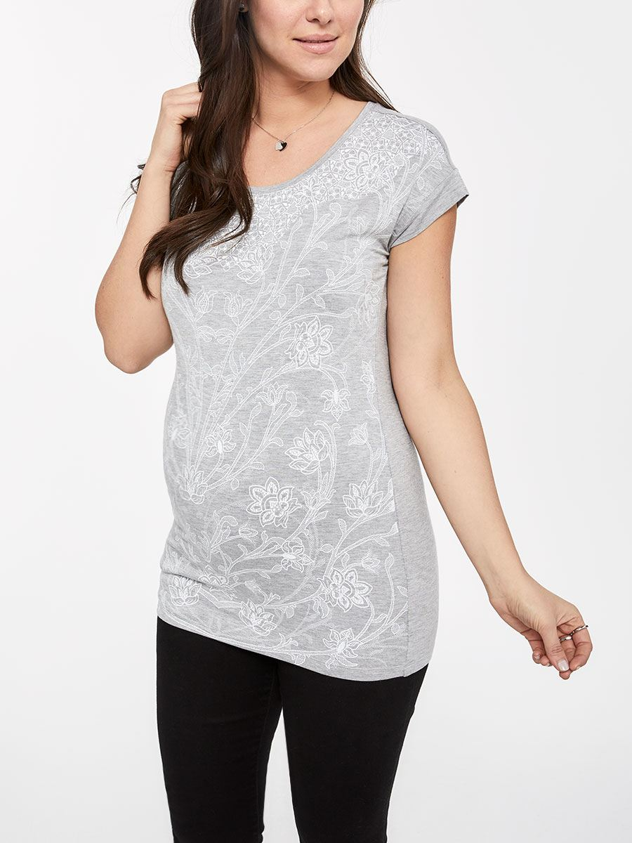 Stork & Babe - Printed Maternity Top