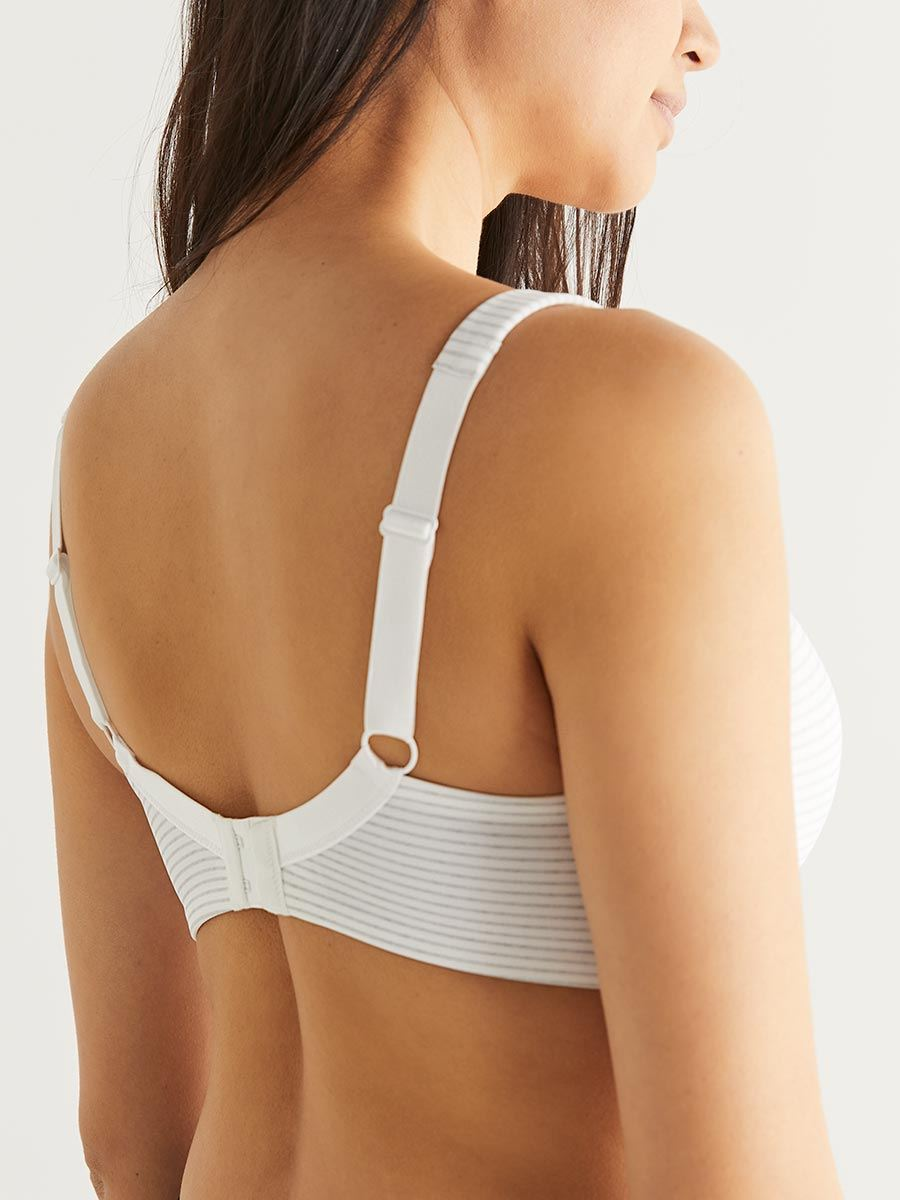 Striped Full Coverage Nursing Bra