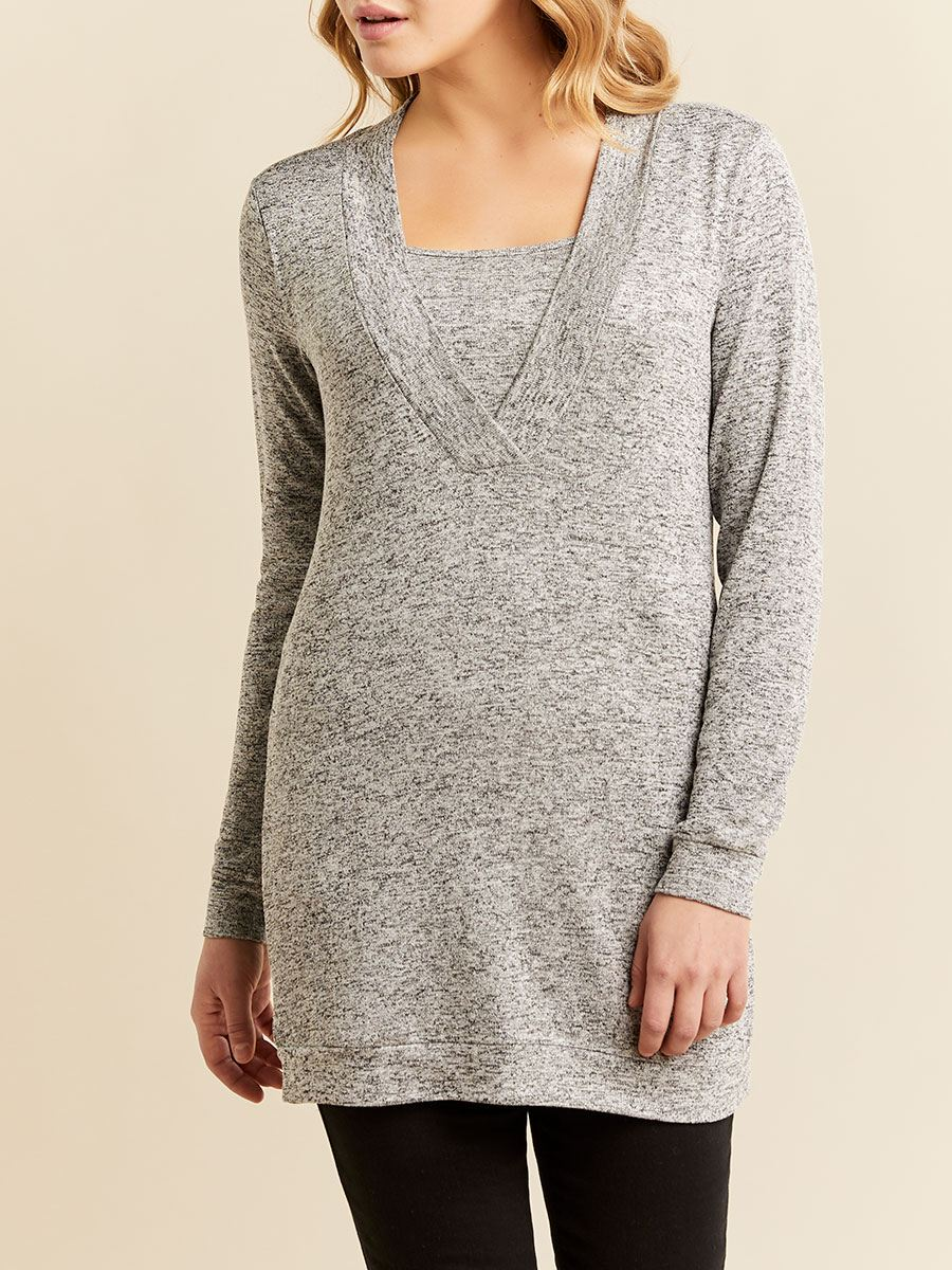 Long Sleeve Nursing & Maternity Top