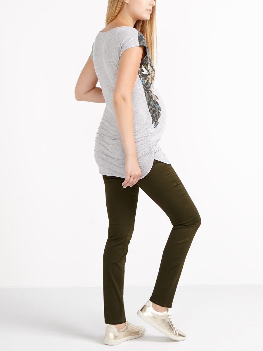 5a4adff5a1f19 Super Skinny Coloured Sateen Plus Size Maternity Pant